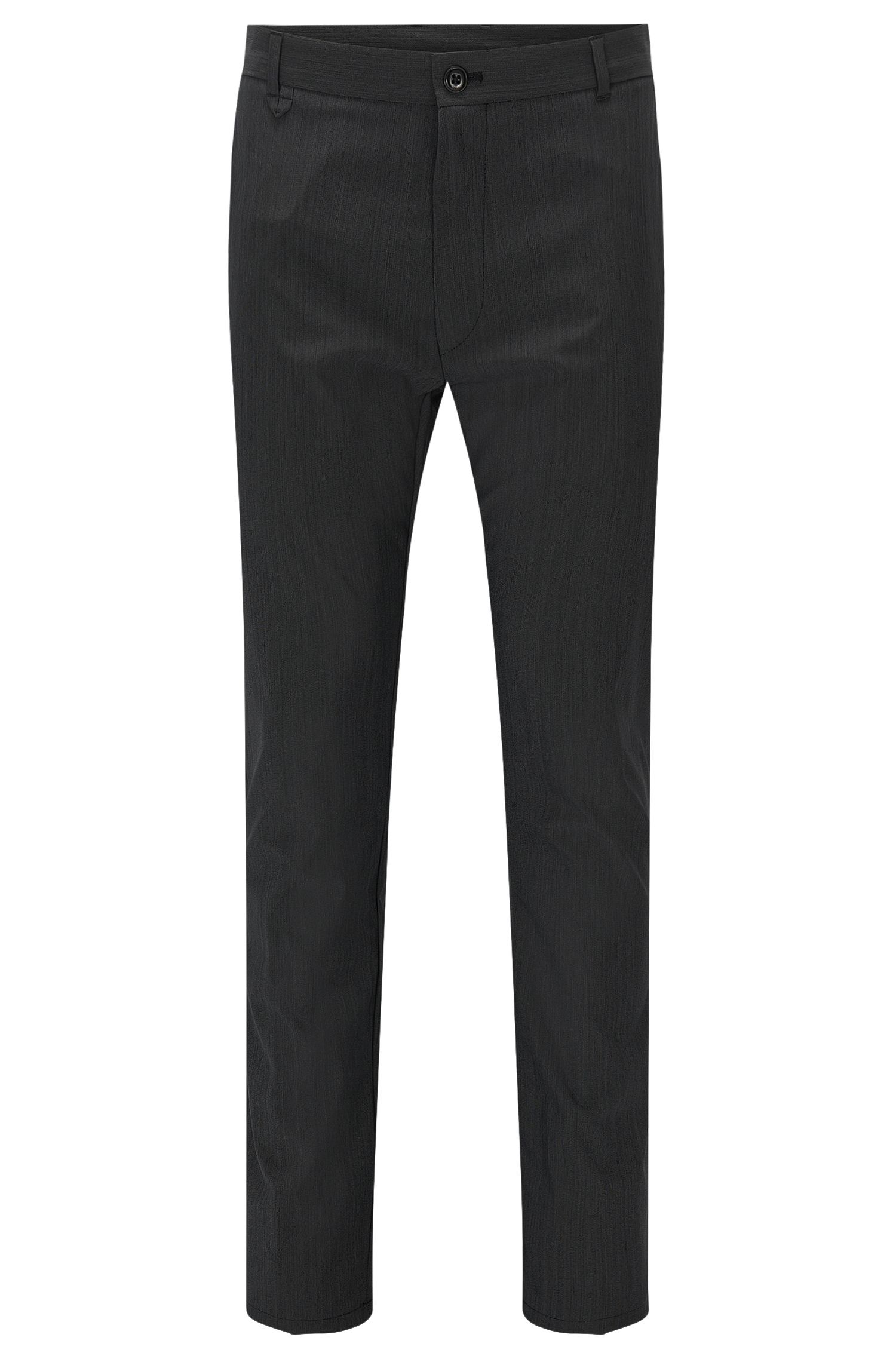 Virgin Wool Blend Pants, Slim Fit | Heldor
