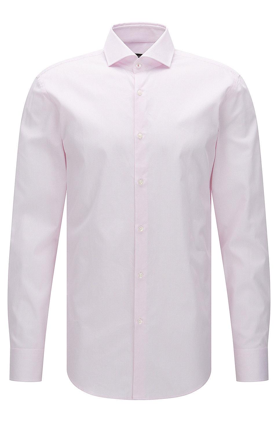 Boss Striped Cotton Dress Shirt Slim Fit Jerrin