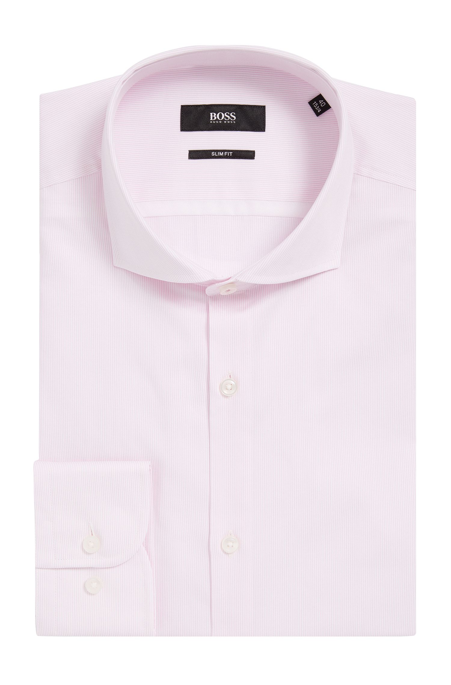 'Jerrin' | Slim Fit, Striped Cotton Dress Shirt