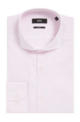 Striped Cotton Dress Shirt, Slim Fit | Jerrin  , light pink