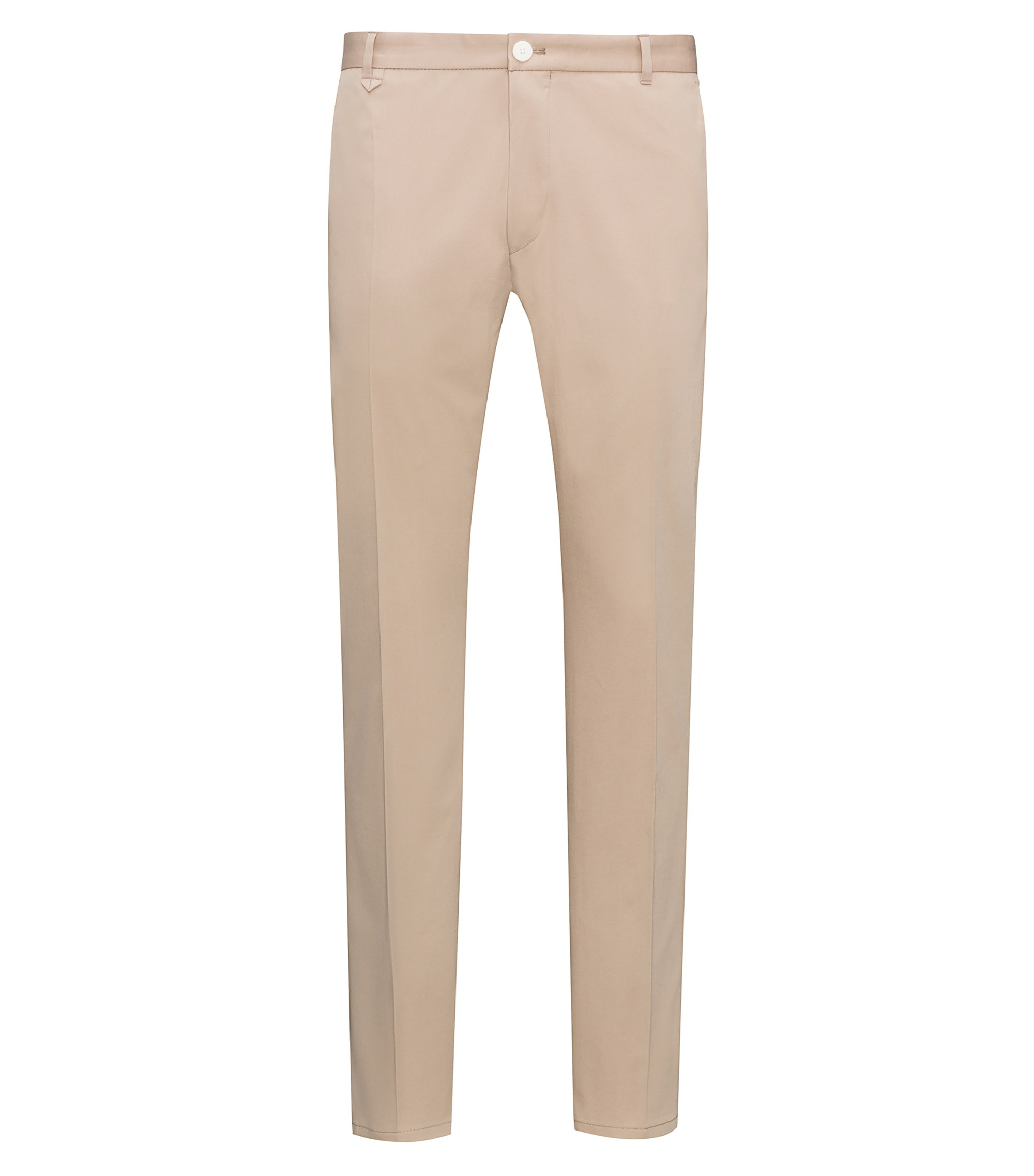Stretch Cotton Pants, Extra Slim Fit | Heldor, Beige