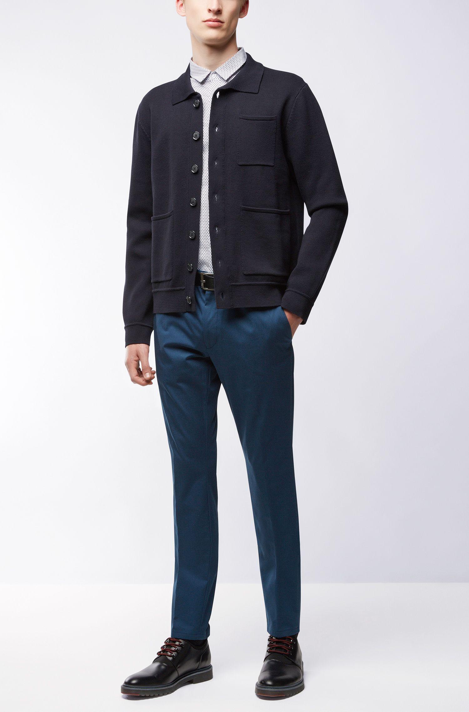 Stretch Cotton Pants, Extra Slim Fit | Heldor