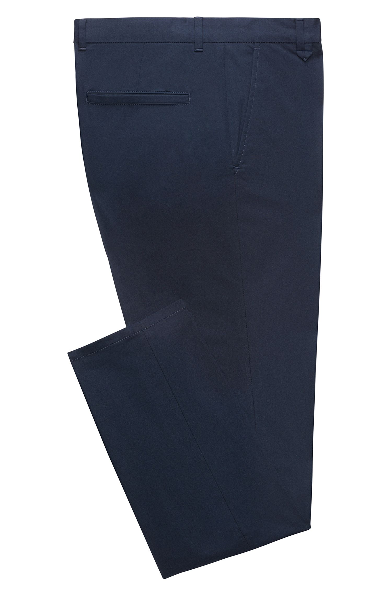 Stretch Cotton Pants, Extra Slim Fit | Heldor, Dark Blue
