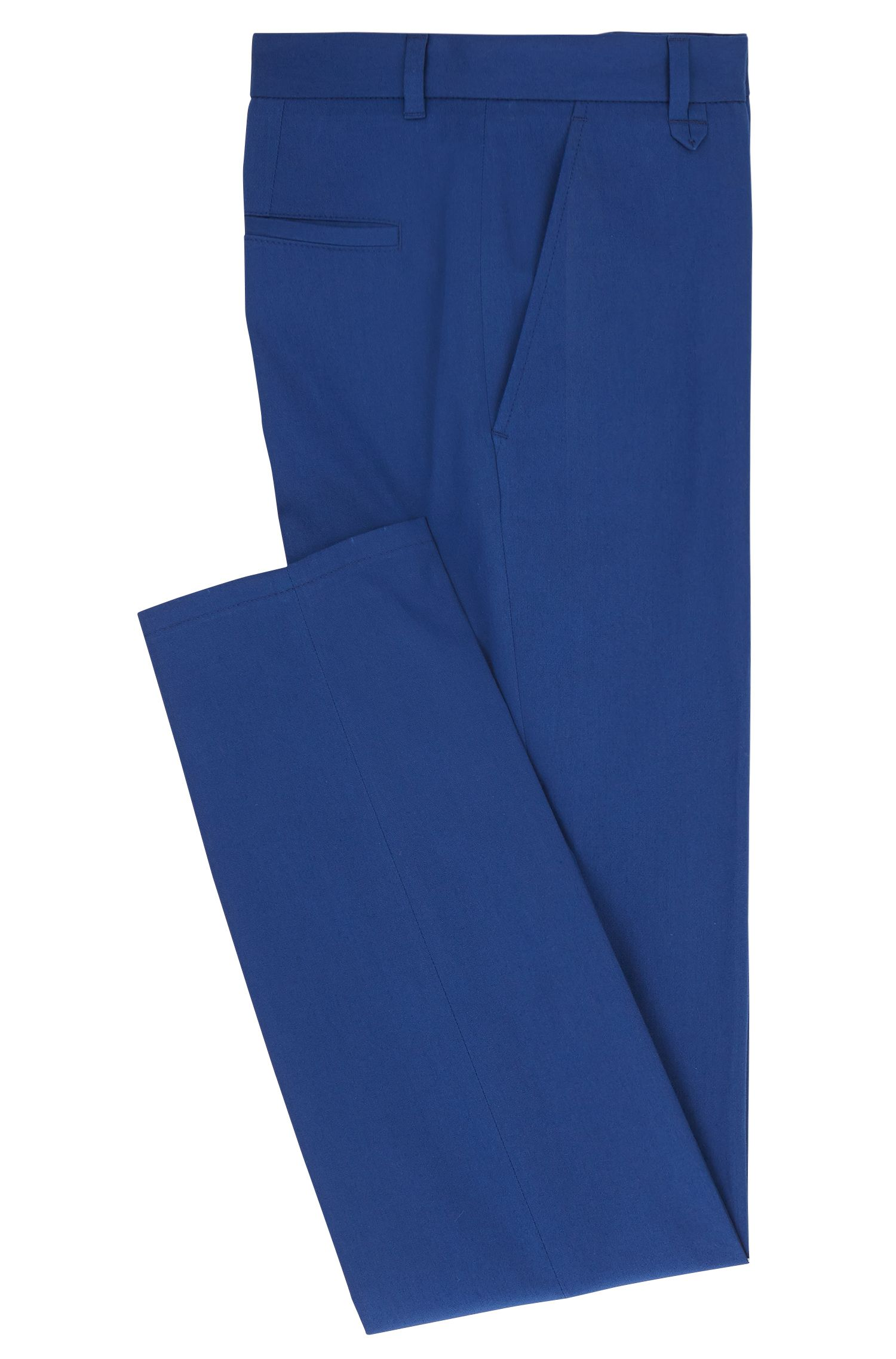 Stretch Cotton Pants, Extra Slim Fit | Heldor, Blue