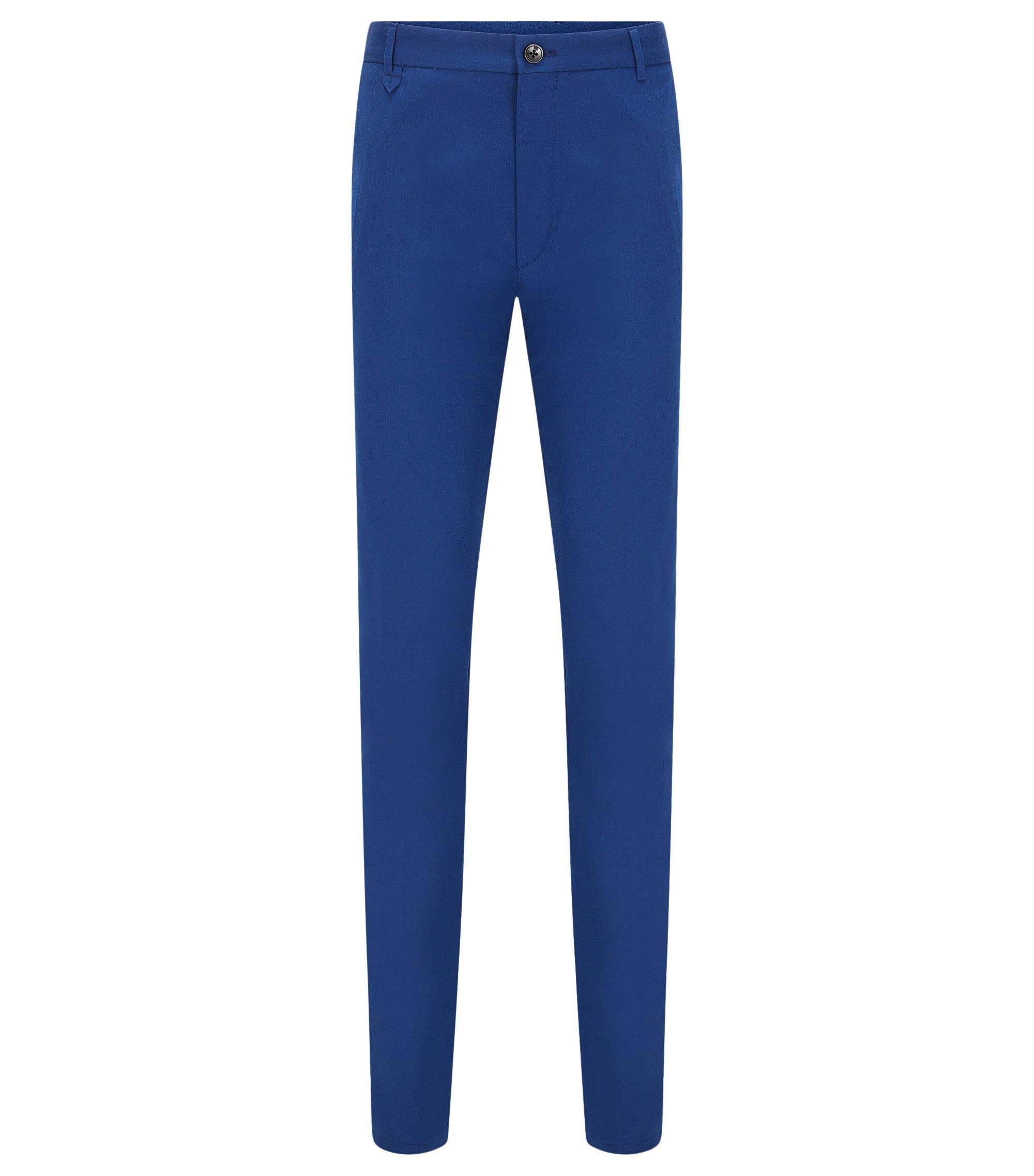 Stretch Cotton Pants, Extra Slim Fit   Heldor, Blue