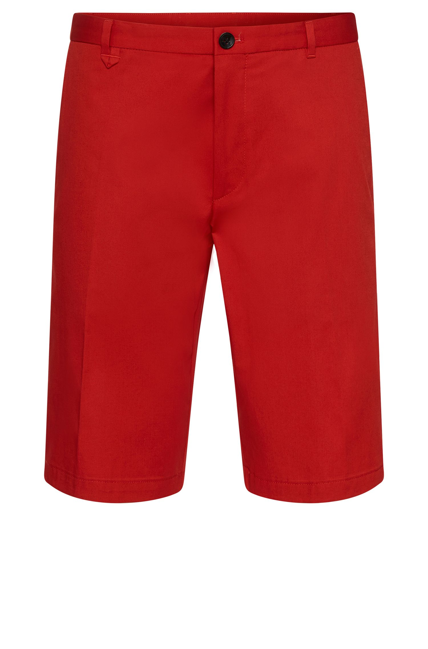 'Hano' | Slim Fit, Stretch Cotton Shorts