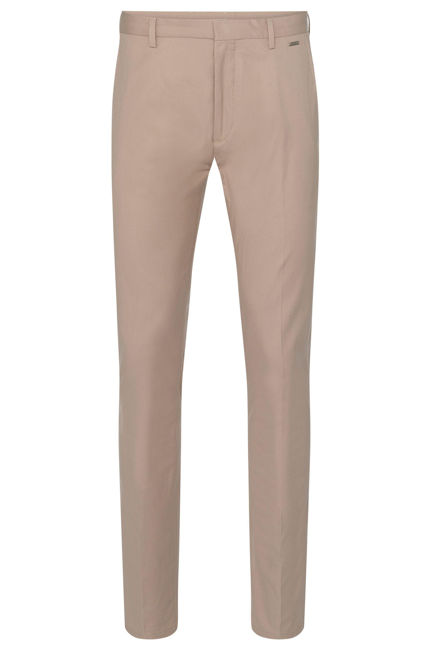 Stretch Cotton Blend Textured Pant, Regular Fit | Helgo