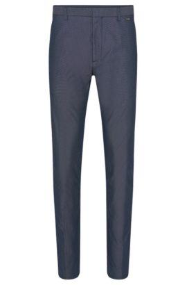 Stretch Cotton Blend Pant, Regular Fit | Helgo, Dark Blue