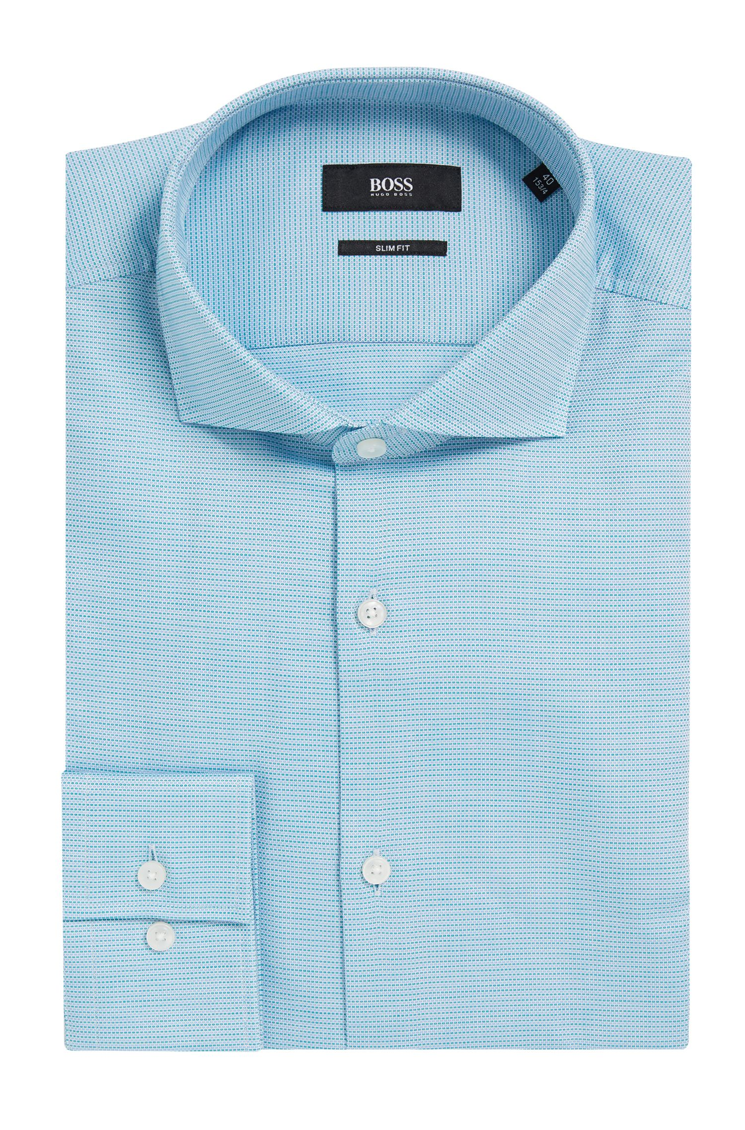 'Jason'   Slim Fit, Nailhead Cotton Dress Shirt