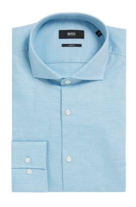Nailhead Cotton Dress Shirt, Slim Fit | Jason, Open Green