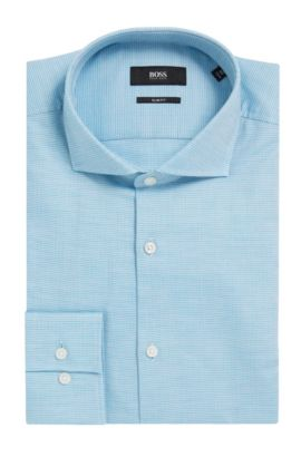 Nailhead Cotton Dress Shirt, Slim Fit | Jason  , Open Green