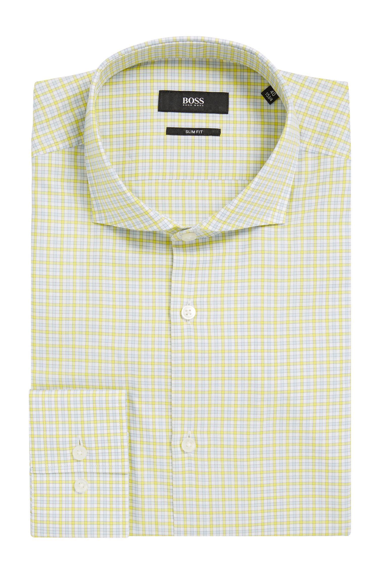Checked Cotton Dress Shirt, Slim Fit | Jason