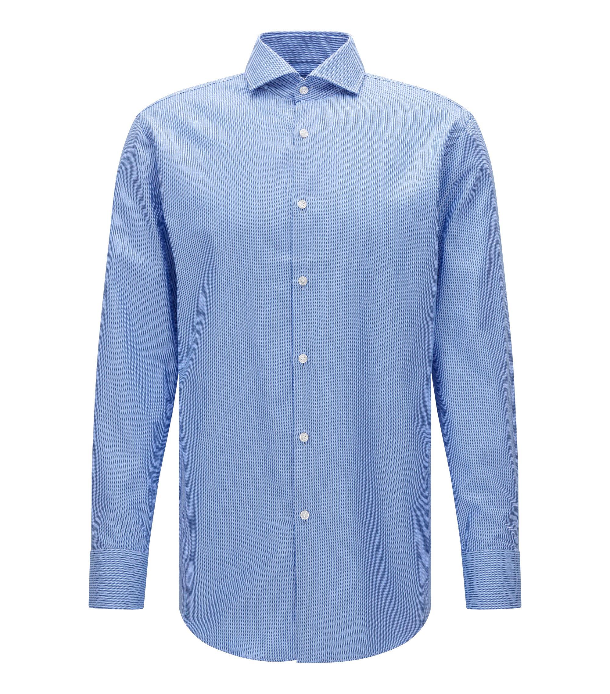 Striped Cotton Dress Shirt, Sharp Fit | Mark US, Blue