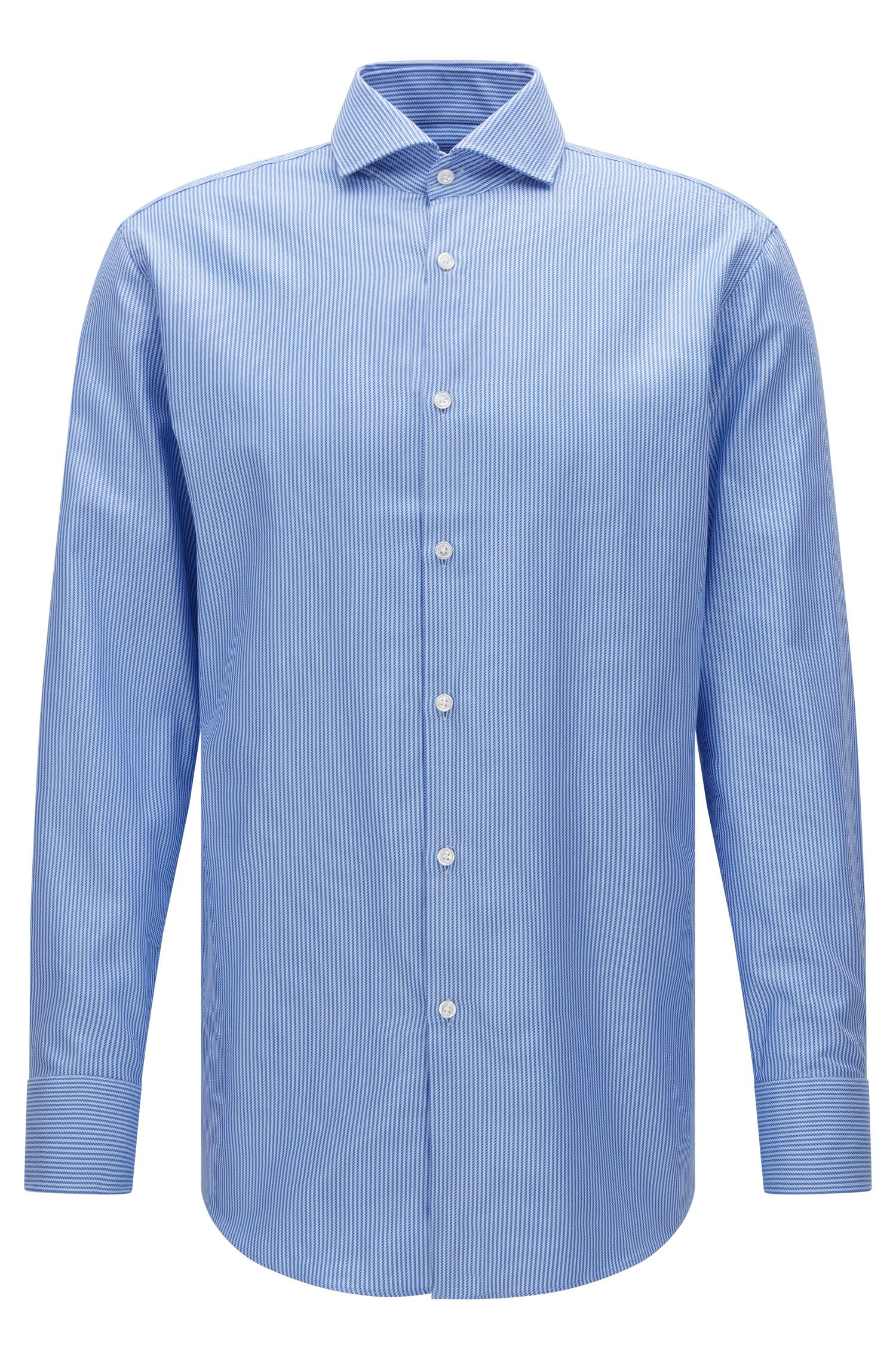 Striped Cotton Dress Shirt, Sharp Fit | Mark US, Blue