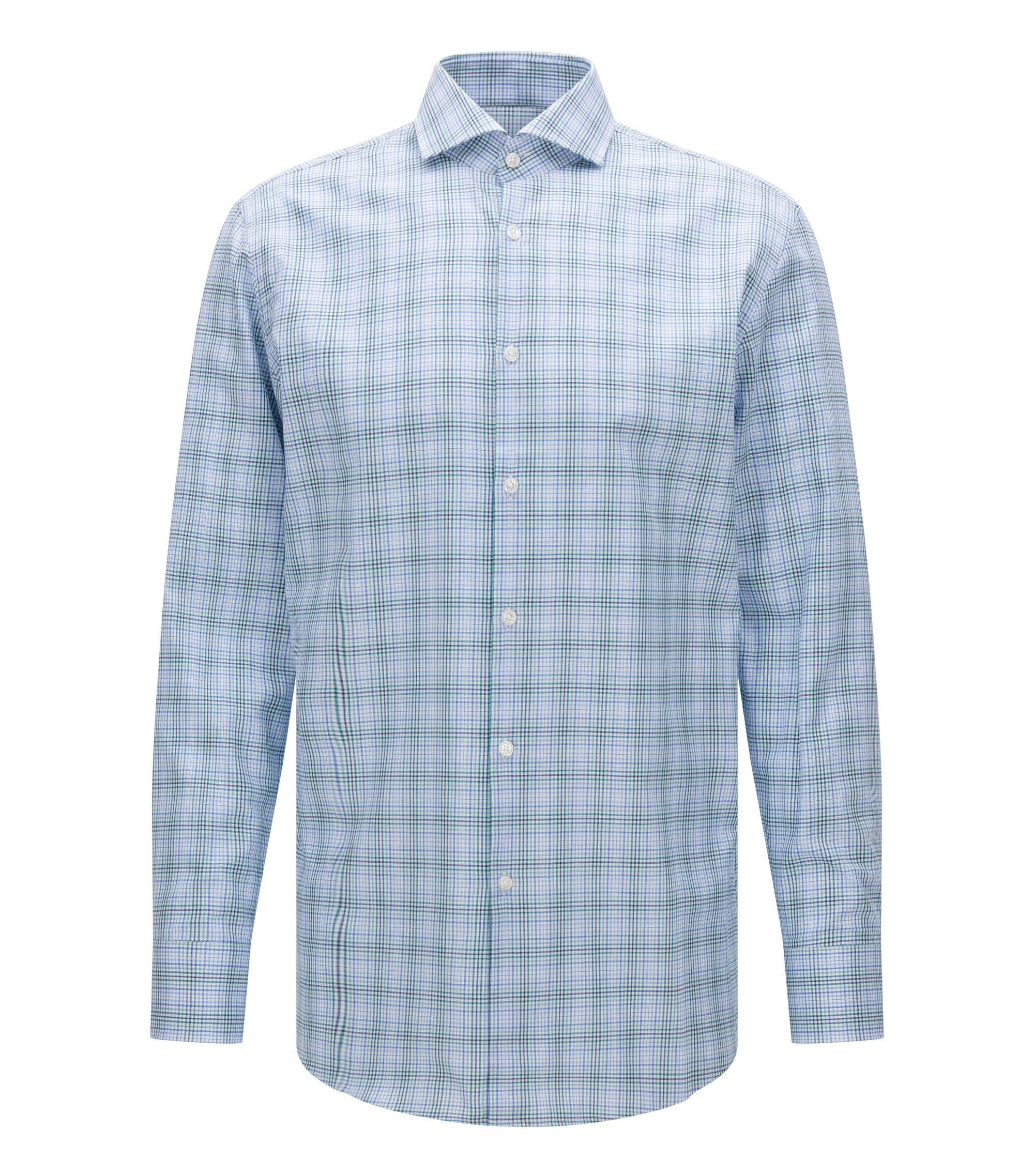 Plaid Cotton Dress Shirt, Sharp Fit | Mark US, Green