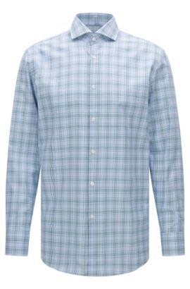 Plaid Cotton Dress Shirt, Sharp Fit | Mark US, Green