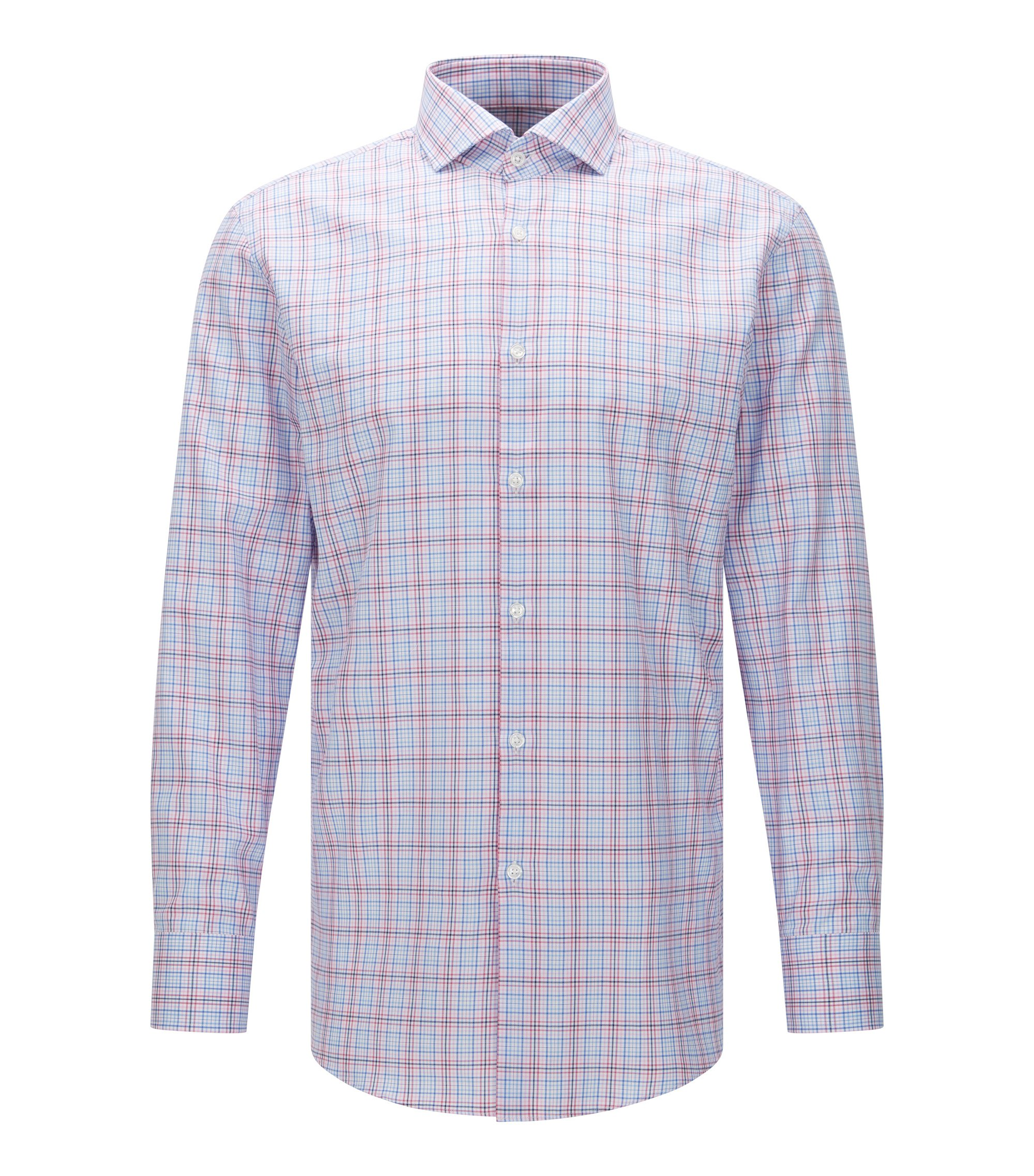 Plaid Cotton Dress Shirt, Sharp Fit | Mark US, Pink