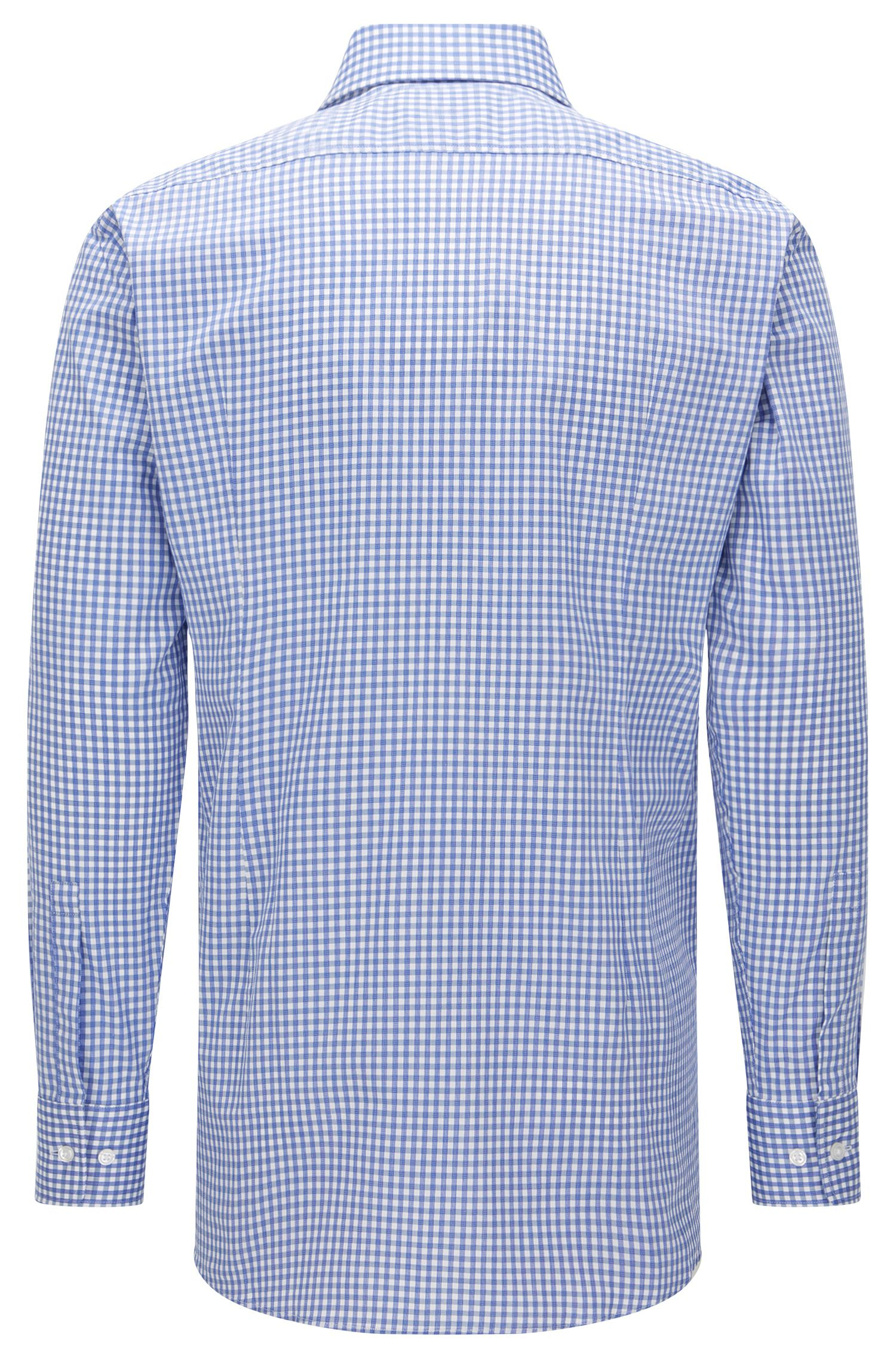 Sheperd's Check Cotton Dress Shirt, Sharp Fit | Mark US