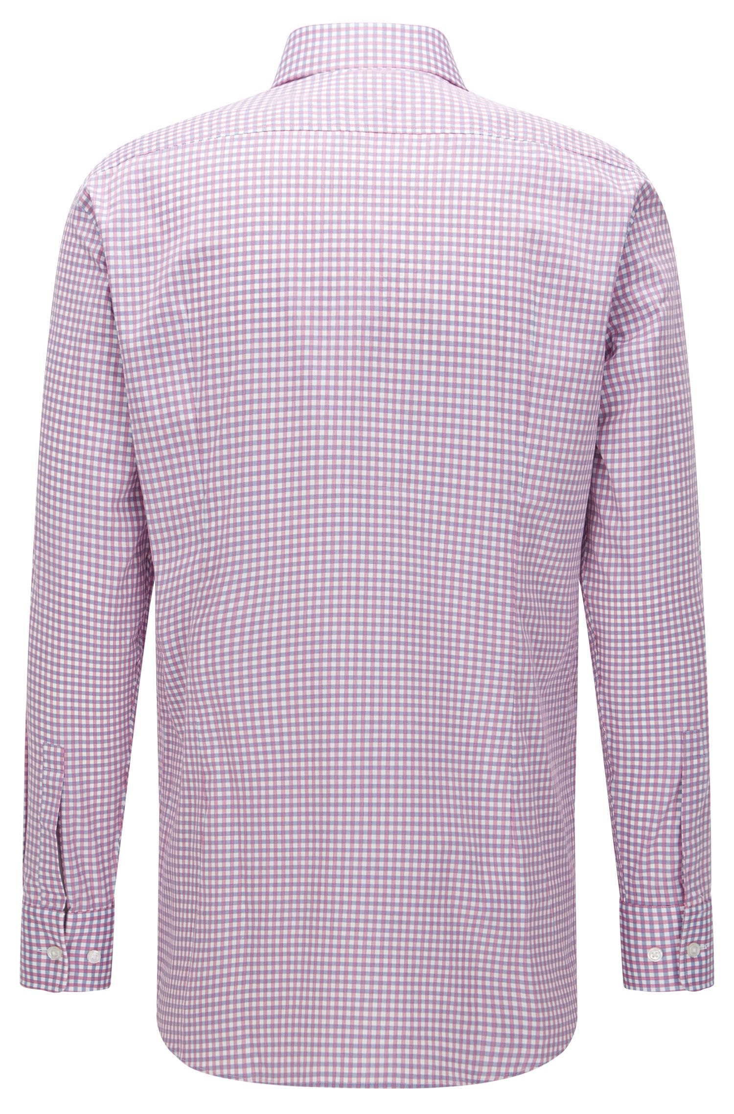 Sheperd's Check Cotton Dress Shirt, Sharp Fit | Mark US, Pink