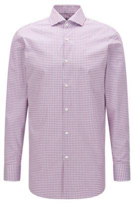 Sheperd's Check Cotton Dress Shirt, Sharp Fit | Mark US, Pink