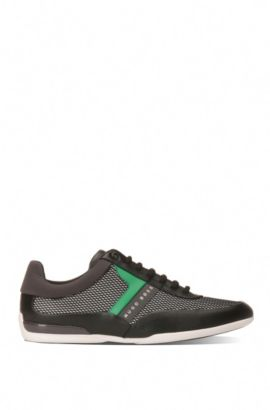 Mesh Leather Sneaker | Space Lowp Nyme, Charcoal
