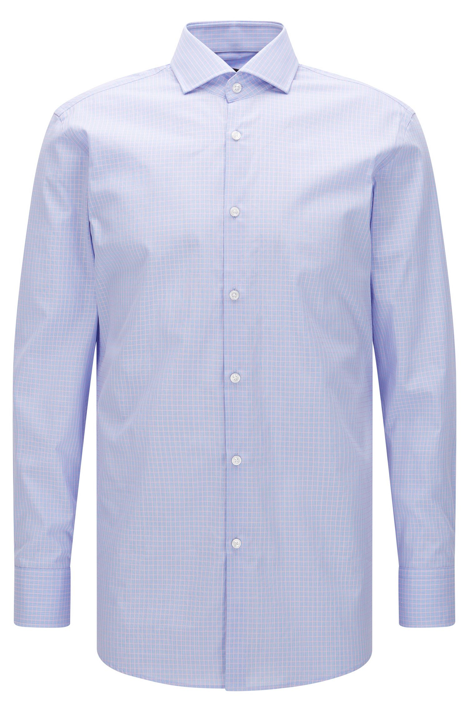 Windowpane Cotton Dress Shirt, Sharp Fit | Mark US