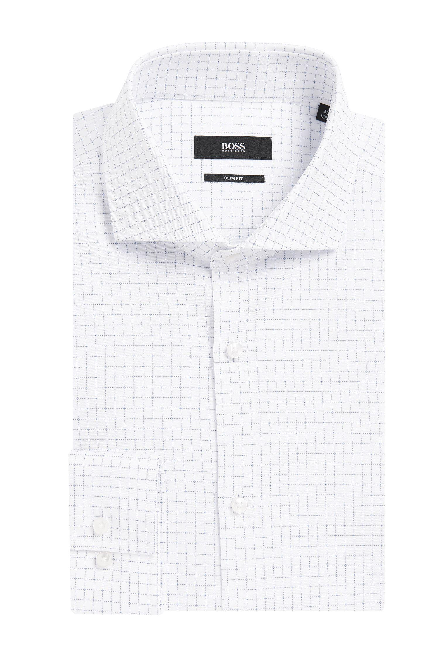 'Jason' | Slim Fit, Italian Cotton Window Pane Dress Shirt