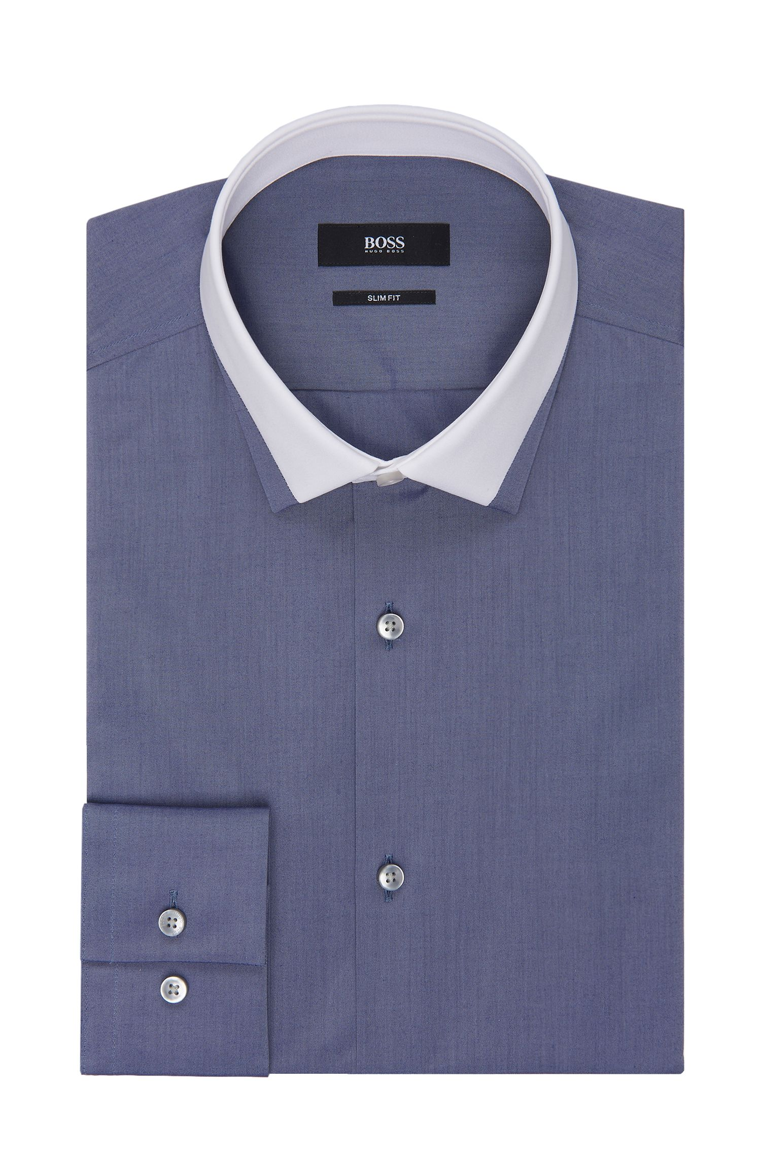 Contrast Collar Dress Shirt, Slim Fit  | Jerrell