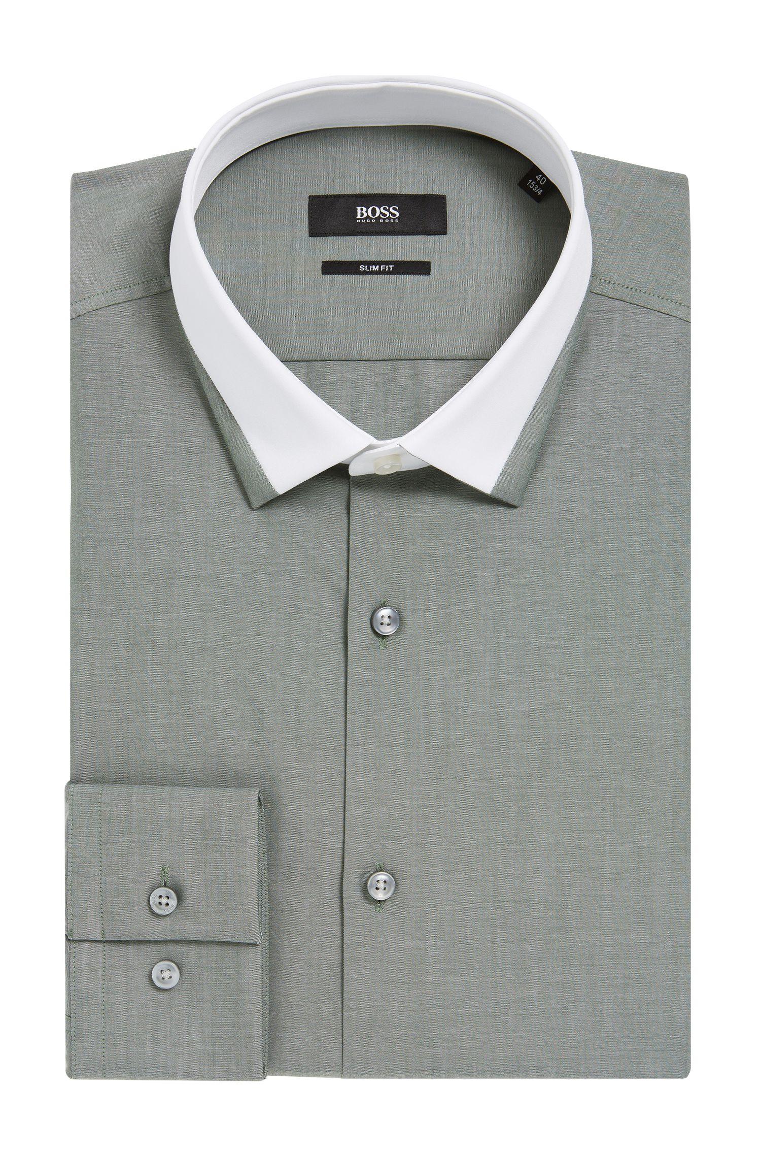 'Jerrell' | Slim Fit, Contrast Collar Dress Shirt