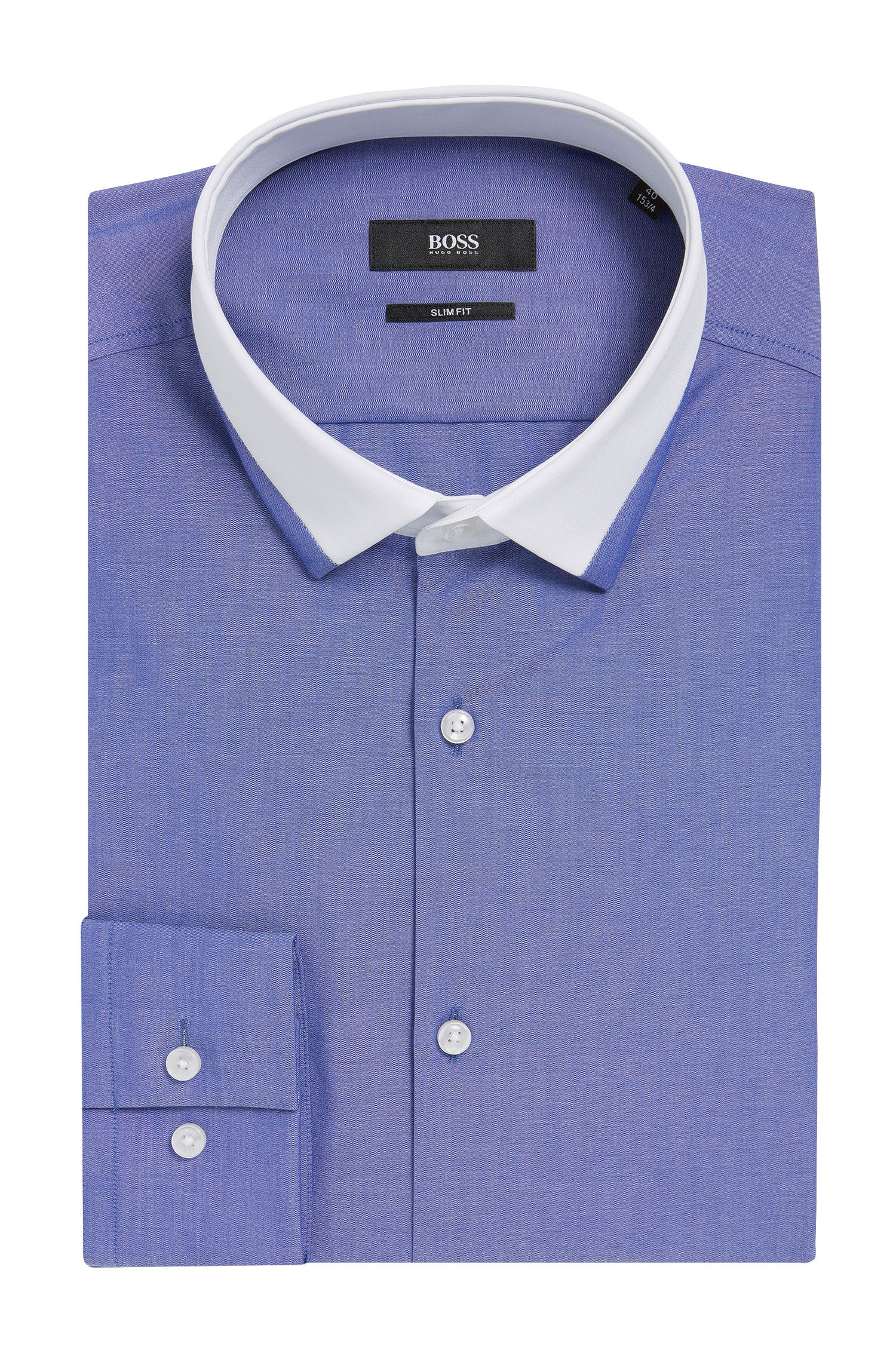 Contrast Collar Dress Shirt, Slim Fit| Jerrell
