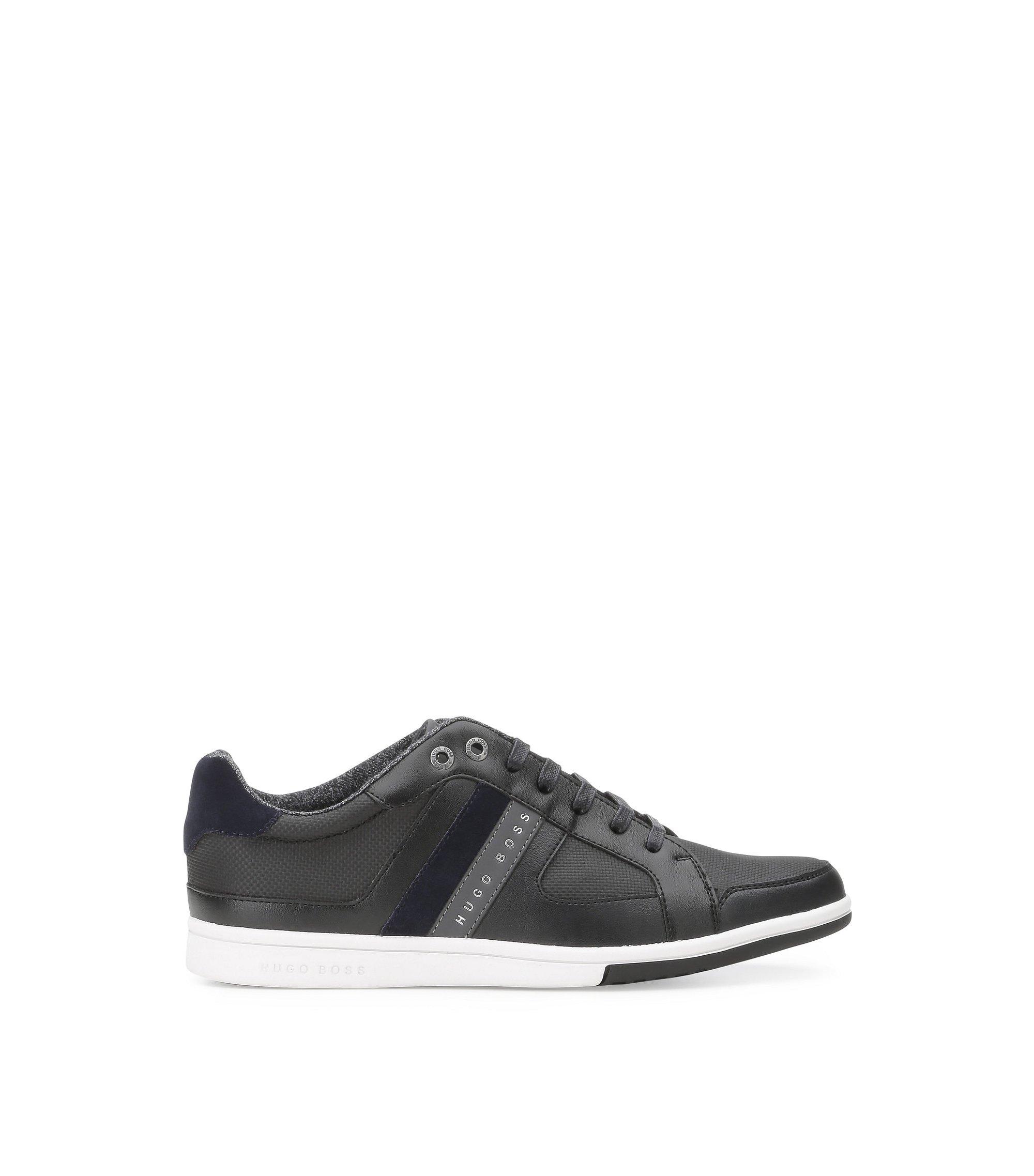 Coated Mesh Sneaker | Metro Tenn Cvc, Black