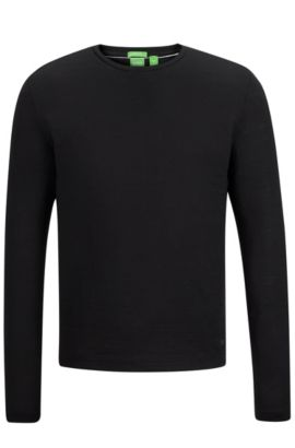 'Sassari US' | Cotton Long Sleeve T-Shirt, Black