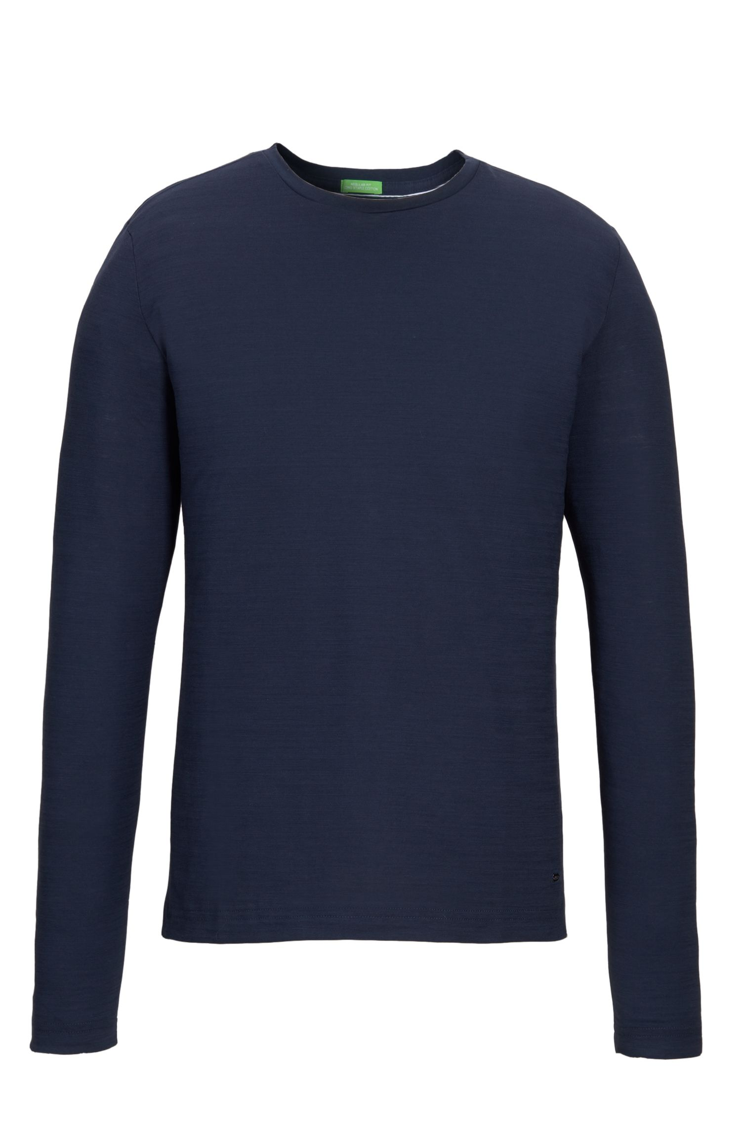 Cotton Sweater | Sessari US, Dark Blue
