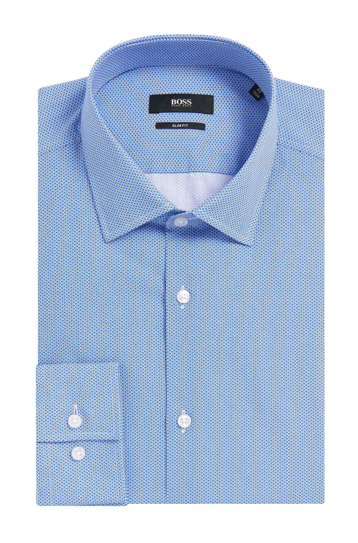 Geometric Italian Cotton Dress Shirt, Slim Fit | Jenno
