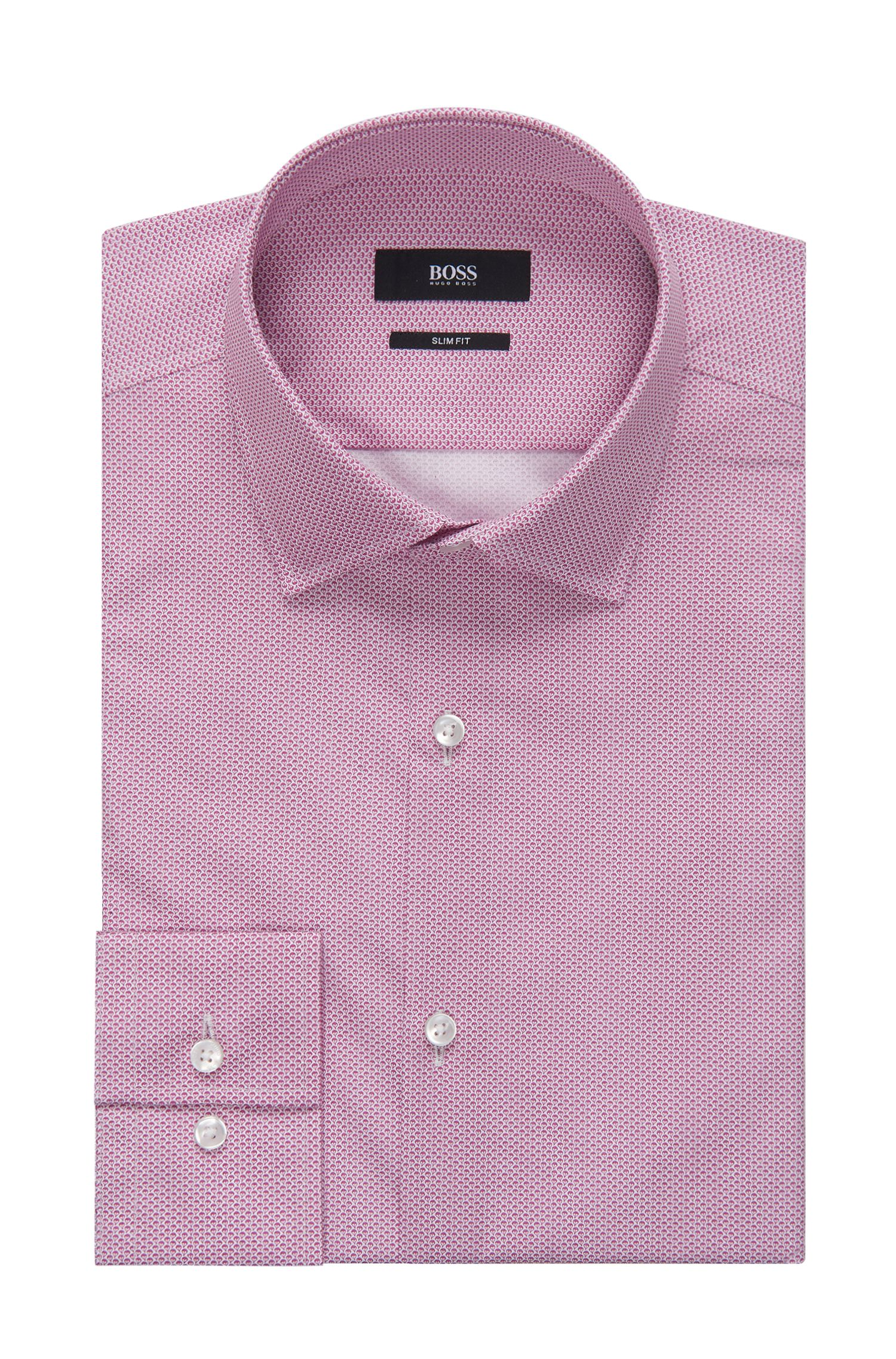 Geometric Italian Cotton Dress Shirt, Slim Fit | Jenno