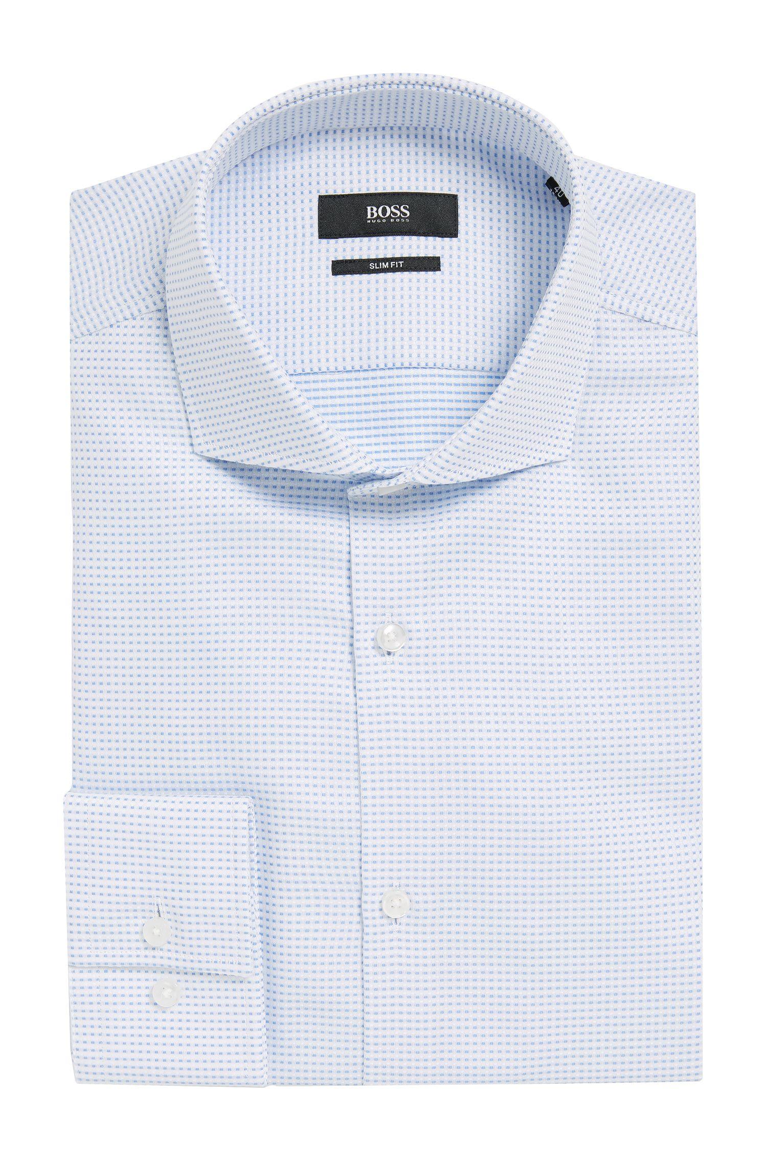 Patterned Cotton Dress Shirt, Slim Fit | Jason