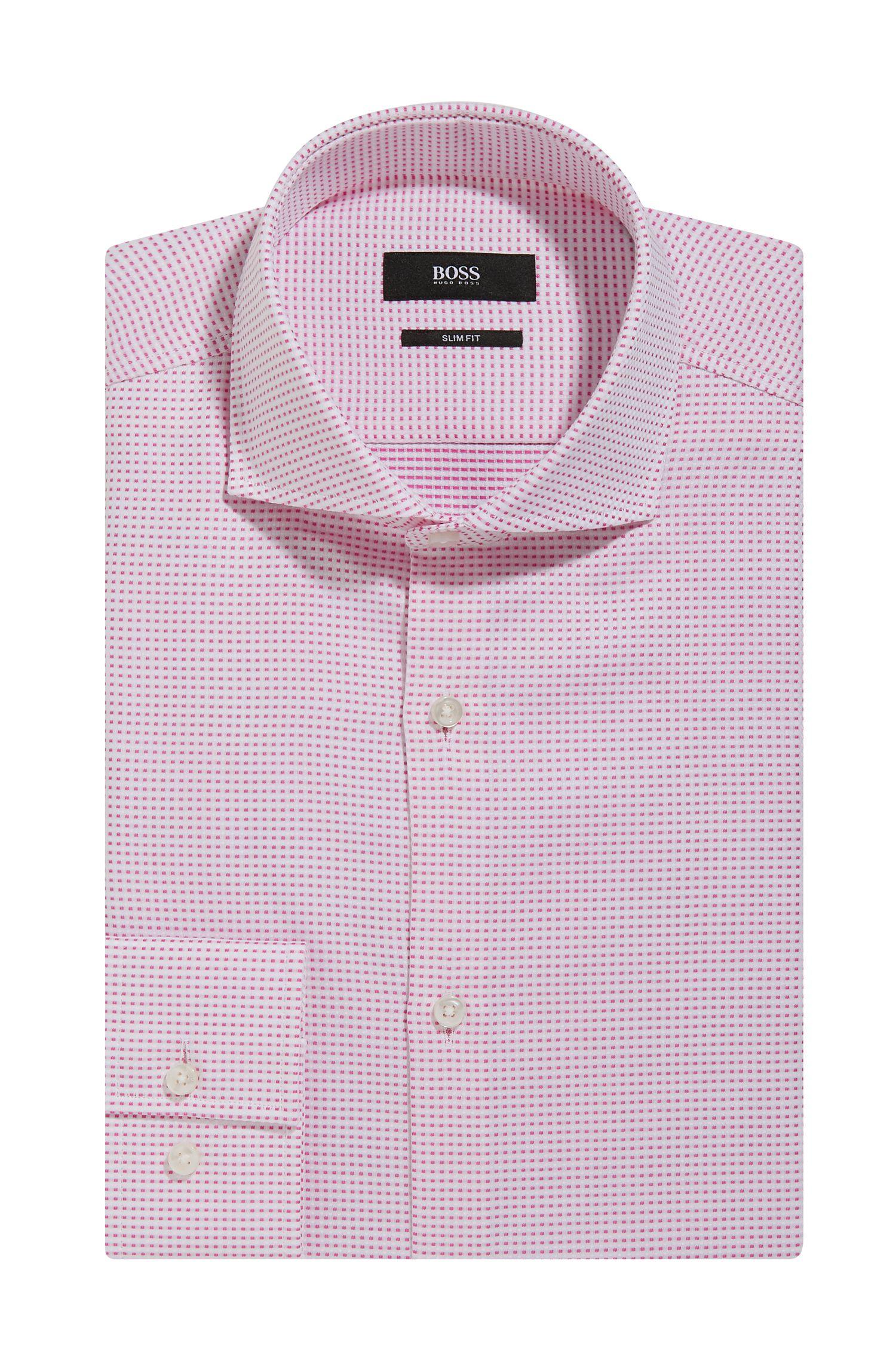Micro-Square Cotton Dress Shirt, Slim Fit | Jason
