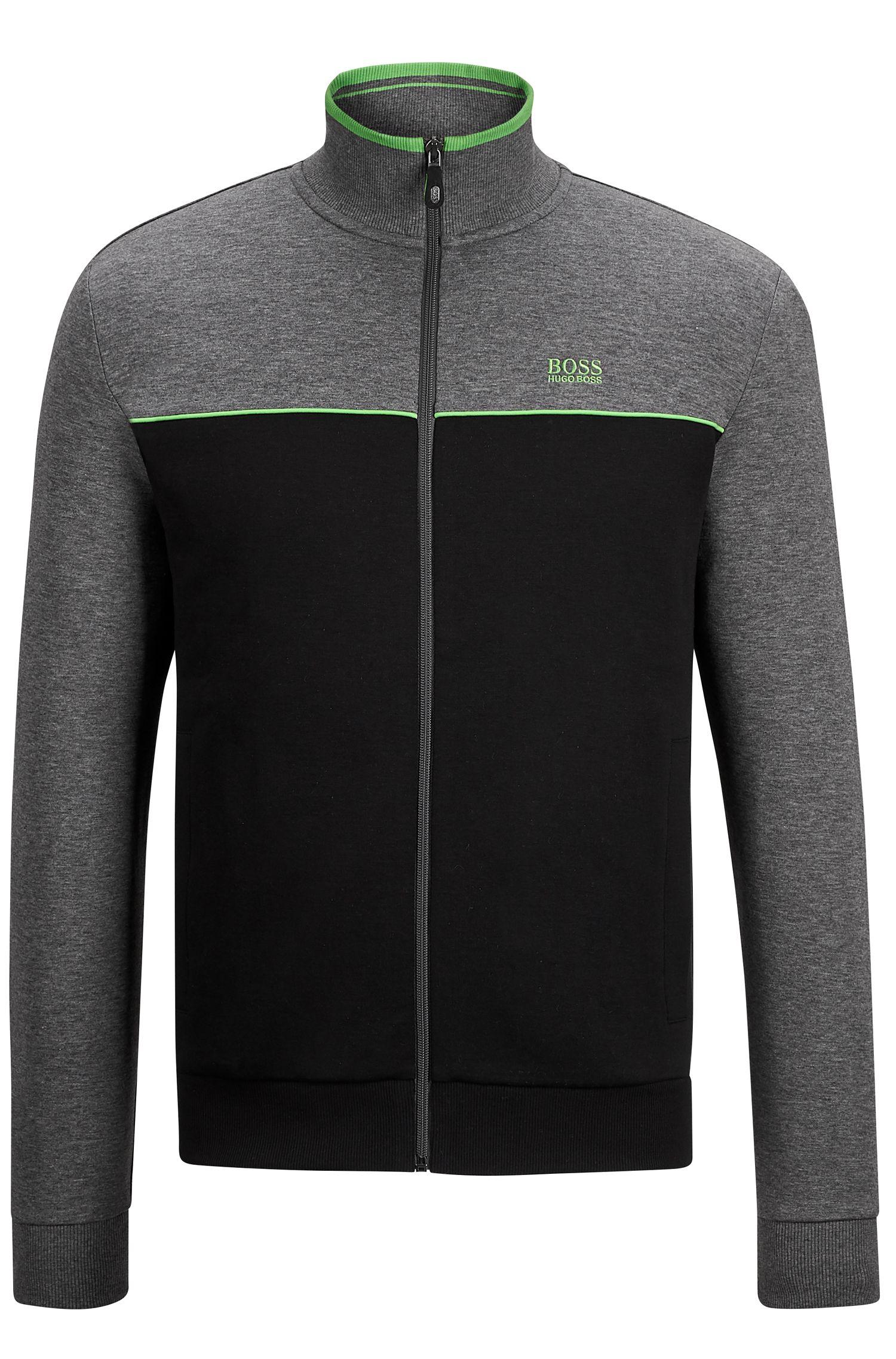 Stretch Cotton Track Jacket | Skaz US, Black