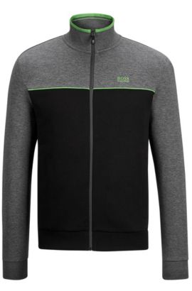 'Skaz US'   Stretch Cotton Track Jacket, Black