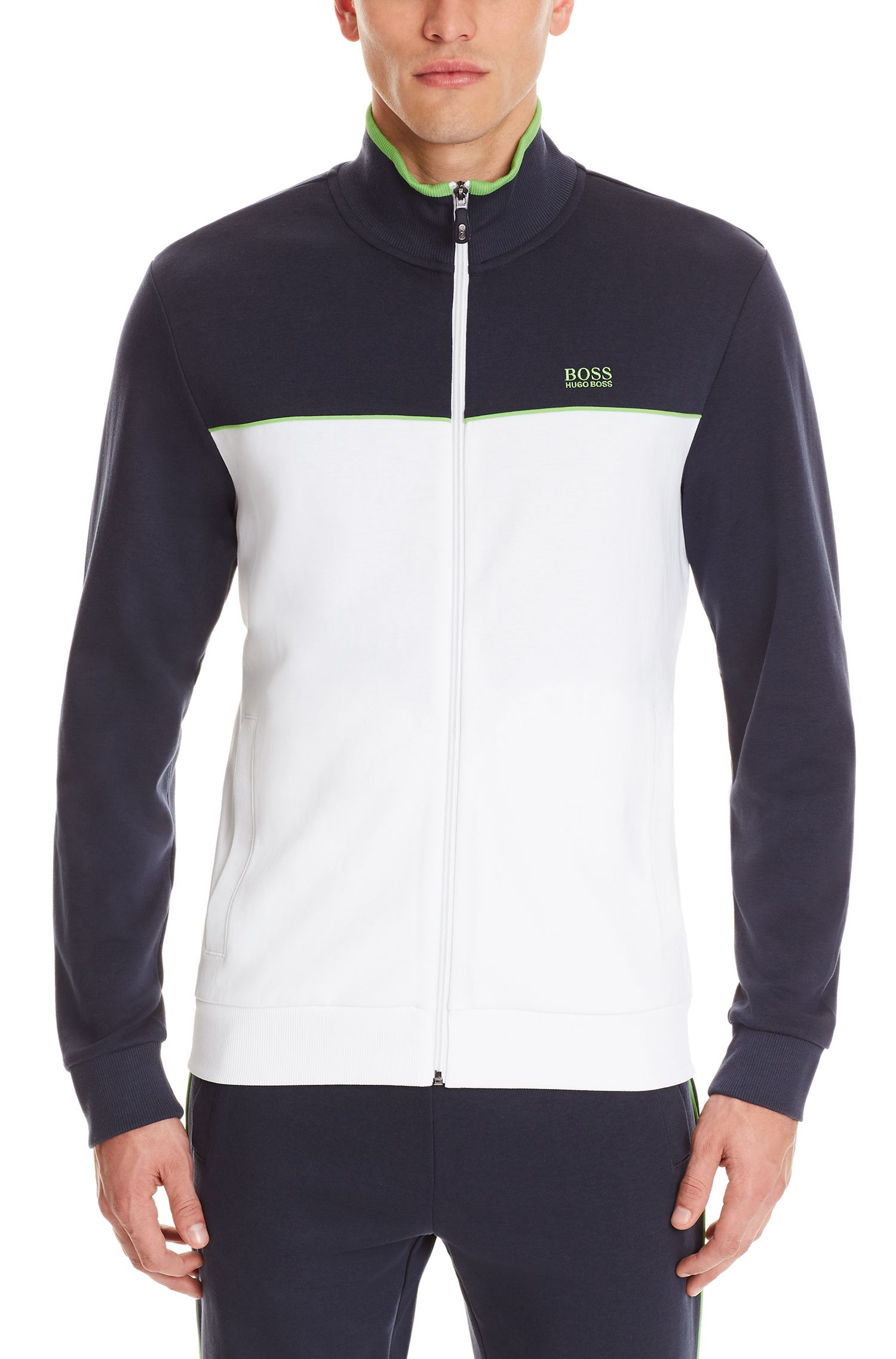 Stretch Cotton Track Jacket | Skaz US, White