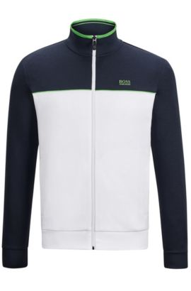 'Skaz US' | Stretch Cotton Track Jacket, White