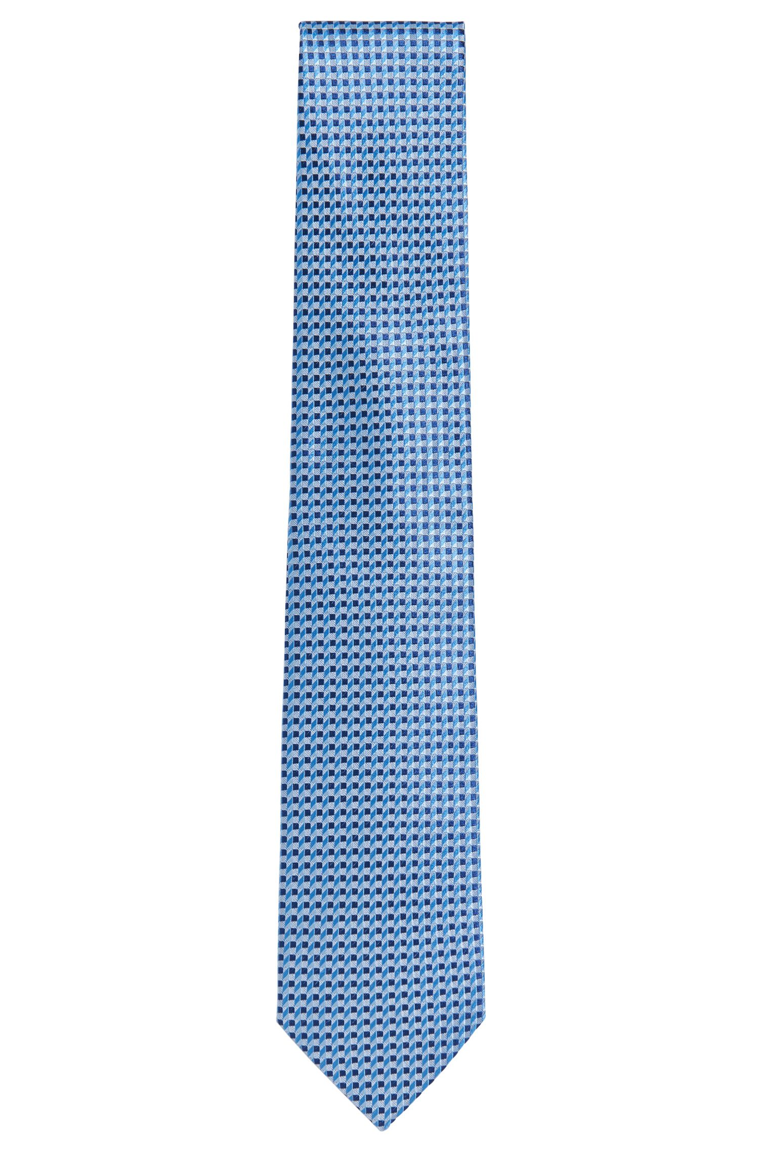 Patterned Italian Silk Tie, Regular   Tie 7.5 cm