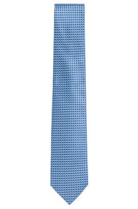 Patterned Italian Silk Tie, Regular | Tie 7.5 cm, Light Blue