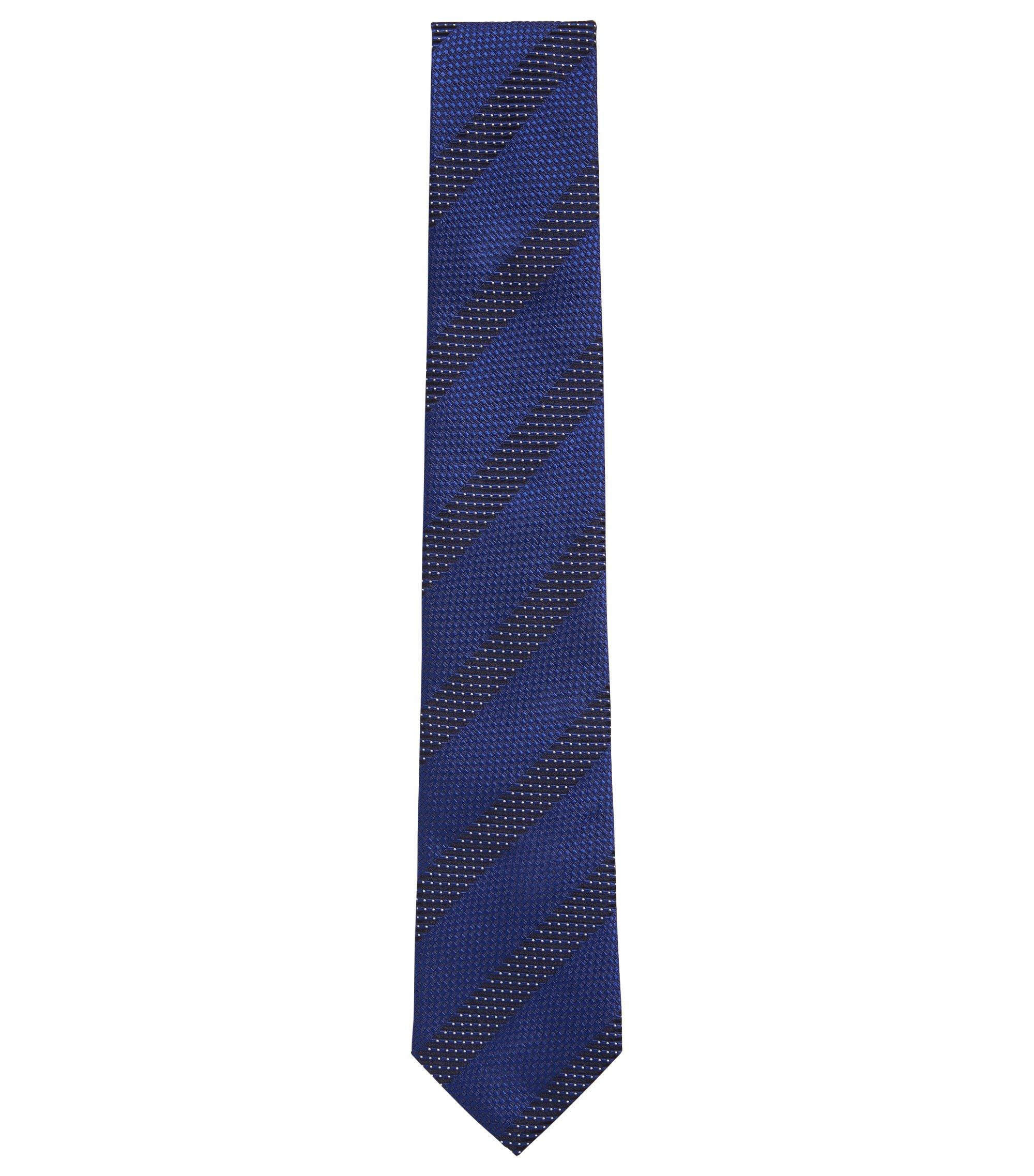 Patterened Italian Silk Tie, Blue