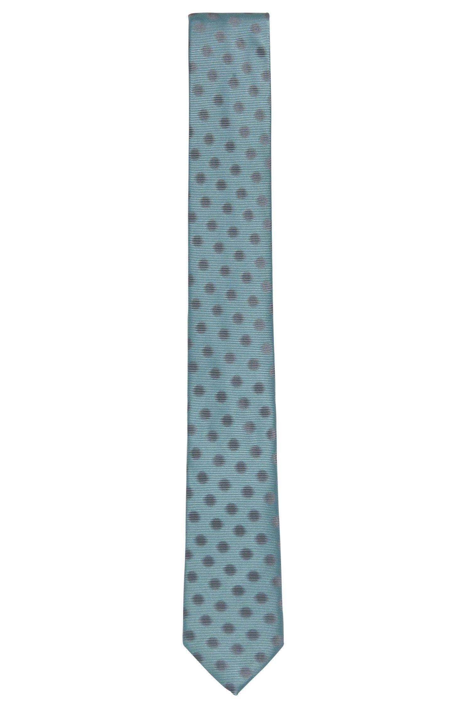 Embroidered Silk Tie, Slim | Tie 6 cm