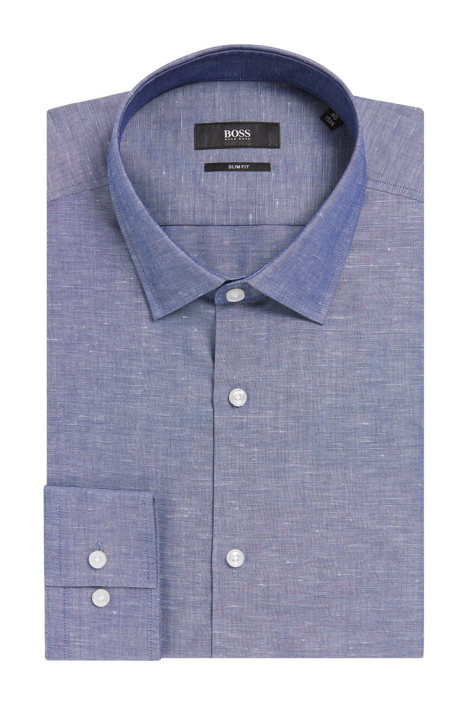 Italian Cotton Linen Dress Shirt, Slim Fit | Jenno