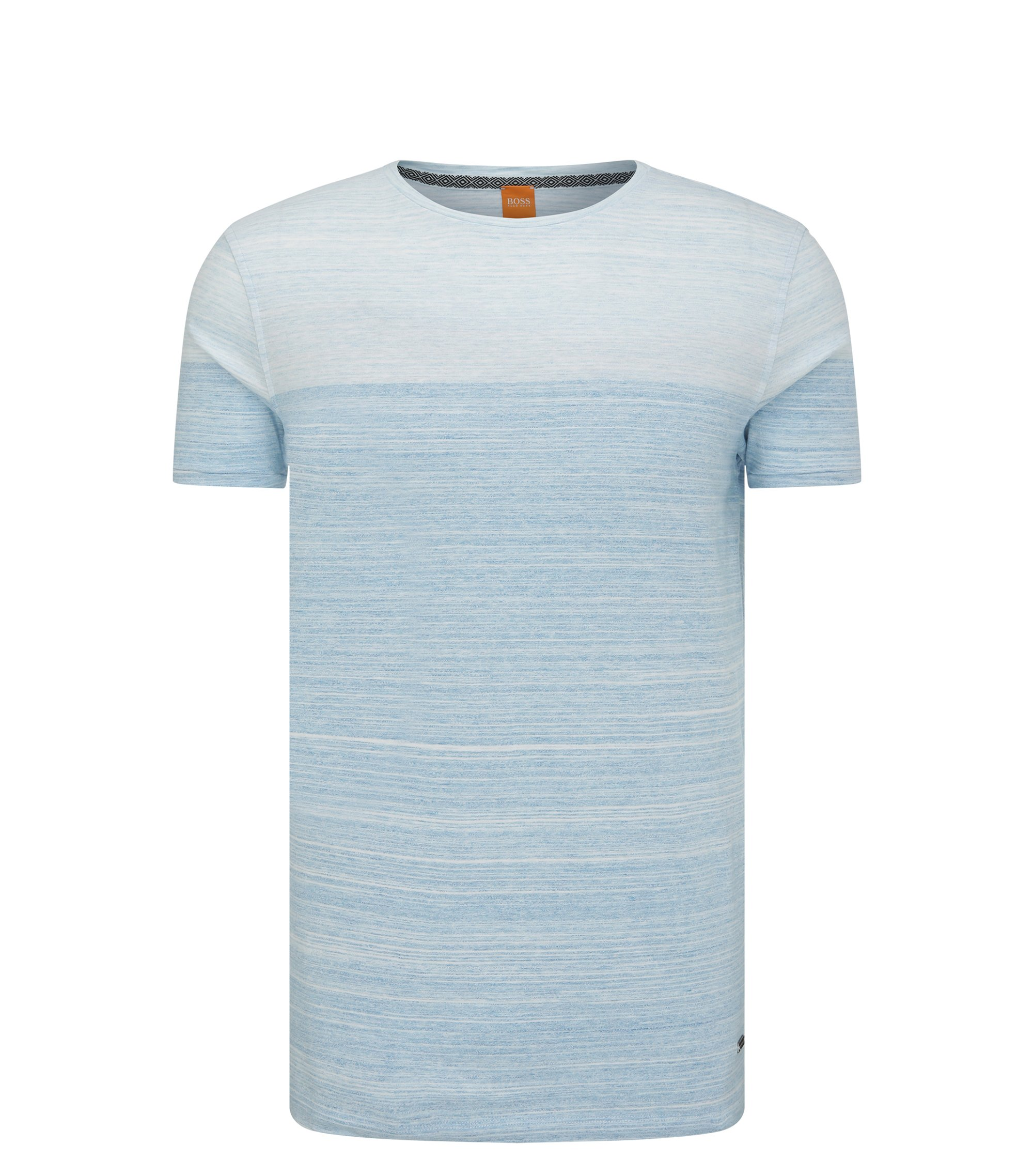 Cotton Ombre Striped T-Shirt | Trumble, Blue