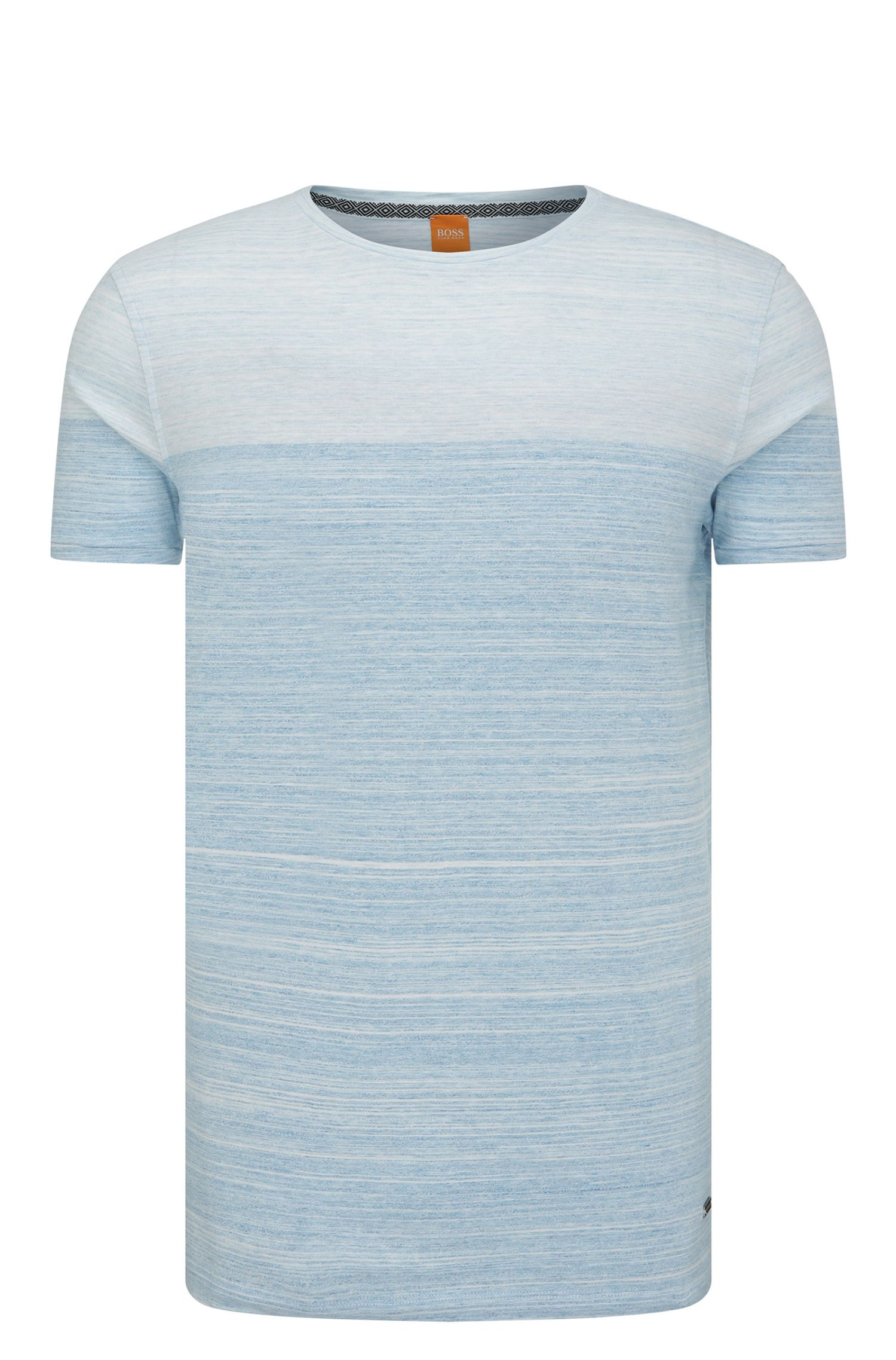 Cotton Ombre Striped Tee Shirt | Trumble