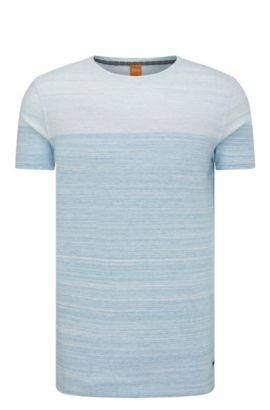 'Trumble' | Cotton Ombre Striped Tee Shirt, Blue