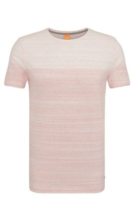 'Trumble' | Cotton Ombre Striped Tee Shirt, Red